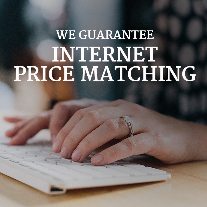We Guarantee Internet Price Matching