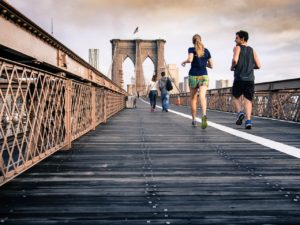 running with a personal trainer